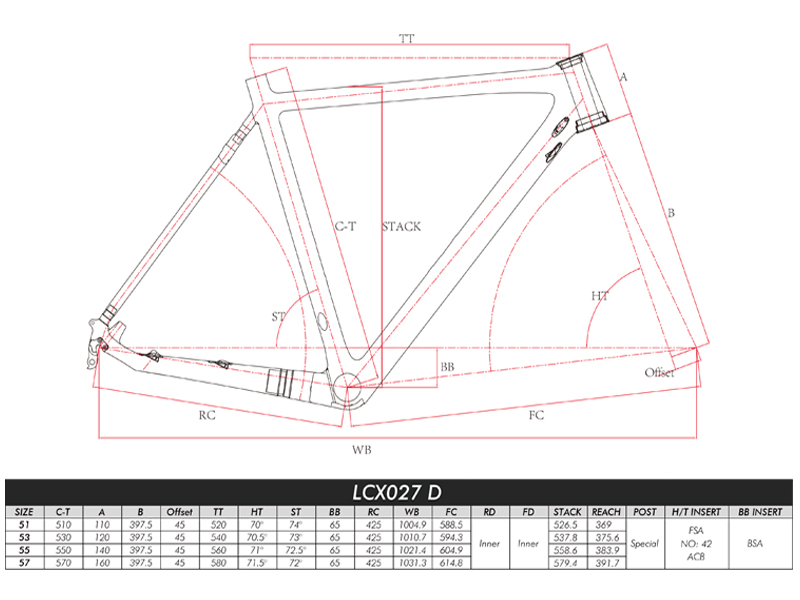 carbon cyclocross frame geometry